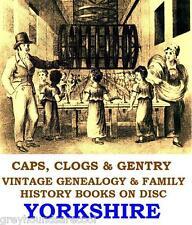 Yorkshire Genealogy 87 Parish Registers York Records Vintage Books on Data Disc