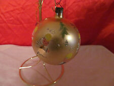 Vintage Hand Painted  Angles Glass Ornament Signed