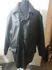Mens Milan Genuine Leather Black Jacket Size L