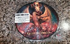 DIO KILLING THE DRAGON LP PICTURE DISC RARE SIGNED BY SIMON WRIGHT/SCOTT WARREN!