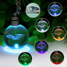 Star Trek USS Enterprise 3D Cristal llavero LED Luz de Noche Lámpara Nocturna