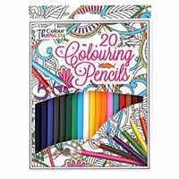 TALLON COLOUR THERAPY RELAX WITH COLOURS 20 FULL SIZE COLOURING PENCILS - 6838