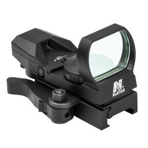 NCStar D4BLQ Blue 4 Reticle Reflex Sight Site Optic QR Weaver Mount