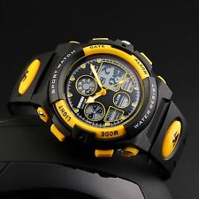 SKMEI Digital Analog LED Dual Time Quartz Wrist Watch for Child Boy Girl Teen