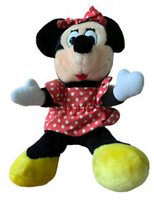 Authentic DISNEYLAND DISNEY WORLD Minnie Mouse Red Polka Dot Plush Stuffed Toy