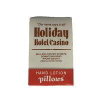 Vintage Holiday Hotel Casino Downtown Reno Nevada Souvenir Hand Lotion Pillows