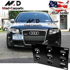 Bumper Tow Hook License Plate Mounting Holder For Audi A4 A5 S4 S5 RS5 A7 S7 A3