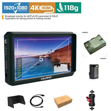 Lilliput A5 HDMI IPS 1920x1080 Camera Field Monitor F970 LP-E6 + LP-E6 Battery