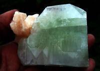apophyllite  cryystals with stilbite