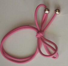New 2pcs Girls Elastic Hair pink bowknot bead Ponytail Bracelets scrunchie 8047