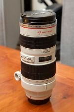 Canon EF 70-200 f2.8L USM zoom lens in near-mint condition, boxed and complete