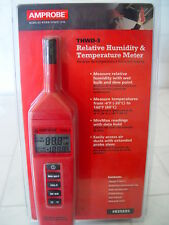 Amprobe THWD-3 RH Relative Humidity Temperature Meter Psychrometer Wet Bulb