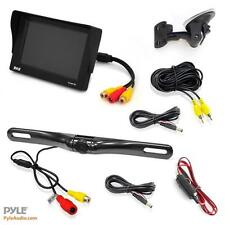 "New Pyle 4.7"" LCD Window Suction Mount Monitor + License Plate Backup Camera Kit"