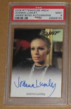 2009 JAMES BOND ARCHIVES JOANNA LUMLEY AUTOGRAPH AUTO PSA 9 007 GIRL movie card