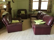 Large leather lounge suite used