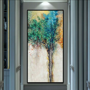VV083 Modern Hand-painted abstract oil painting on canvas The tree of life