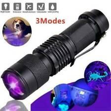 UV Ultra-Violet LED Flashlight Blacklight Light 395/365nM Torch Inspection Lamp