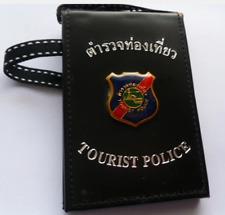 Obsolete Thailand Tourist Police badge/holder  rare