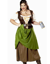 Womens Renaissance Tavern Maid Adult Plus Size Halloween Costume Dress 2XL