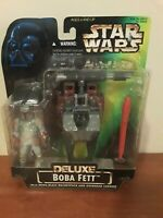 Kenner Star Wars Power of the Force Deluxe Boba Fett With Wing-Blast...