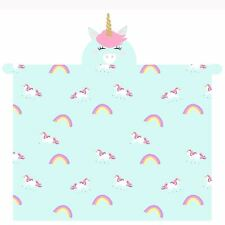 UNICORN HOODED FLEECE BLANKET SOFT WITH SLEEVES & HAND MITTENS KIDS