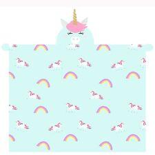 T&a Textiles and Hosiery Ltd 3d Unicorn Hooded Fleece Blanket