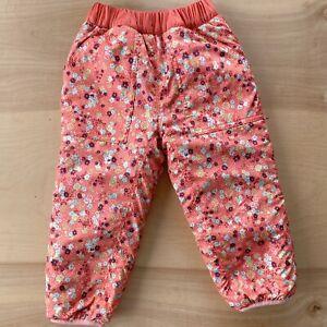 Patagonia Toddler Reversible Fleece Pants 3T Tribbles  Orange Purple Floral