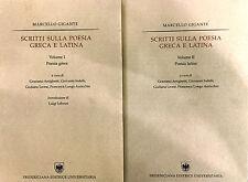 Scritti sulla poesia greca e latina