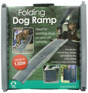 FOLDABLE TRAVEL RAMP For Dogs Rubber Scratch Prevention Dog Assist Car Aid Pets
