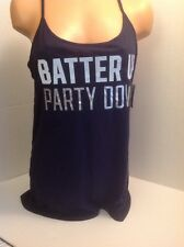 Victorias Secret Tank Top Blue MLB NY Yankees Batter Up S NWT Licensed