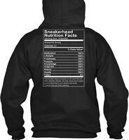 Sneakerhead Nutrition Facts - Sneaker Head Serving Size Gildan Hoodie Sweatshirt