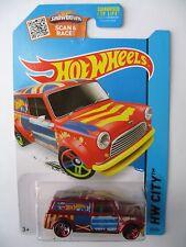 Hot Wheels '67 AUSTIN MINI VAN - Red 2015 HW City, Art Cars mini cooper van