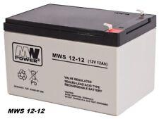 MW-Power AGM GEL Batterie Akku VRLA 12V 12Ah (C20) baugleich 9Ah 10Ah 14Ah 15Ah