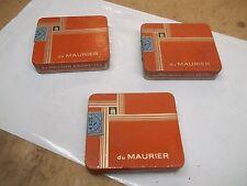 3 Old Cigarette Pocket Tins Peter Jackson London du Maurier
