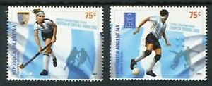 Argentina 2003 Hockey Football Soccer Sports Unique Braille Embossed Stamps 2v