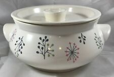 Franciscan Echo 2 Quart Covered Casserole Vintage 1950s
