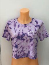 43b739823844b0 Victoria s Secret VS Pink Short Sleeve Purple Tie-dye Crop Tee Size M