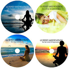 4 CDs:GUIDED MEDITATION RELAXATION DEEP SLEEP DEPRESSION STRESS RELIEF CALM