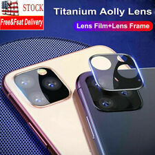 3Pc For iPhone 11 Pro Max Metal Back Camera Lens Tempered Glass Screen Protector