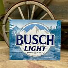 Busch Light Metal Beer Sign Tin Tacker