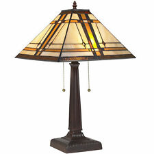 Fabric arts craftsmission style table lamps ebay best choice products tiffany table reading lamp aloadofball Gallery
