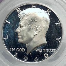 1969 JOHN F KENNEDY Proof Silver Half Dollar US Coin PCGS PR 67 Certified i79873
