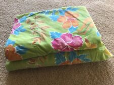 GIRLS TWIN GREEN TROPICAL FLORAL 2-PIECE SHEET SET FLAT & FITTED SHEETS TEEN KID