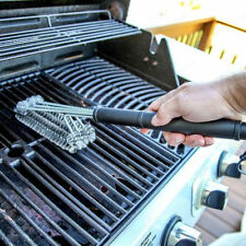 Heavy Duty Barbecue Grill Cleaner Steel Wire Head BBQ Handle Cleaning Brush Tool