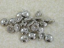 10 PAIRS ~ VINTAGE SILVER TONE FILIGREE ~ CLIP EARRING FINDINGS / JEWELRY MAKING