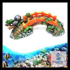 AQUARIUM FISH TANK BRIDGE  DECORATION 27CM ORNAMENT AQUA MARINE FRESH WATER