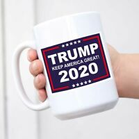 Large Ceramic Mug - Trump Keep America Great! 2020-11 oz Novelty Ceramic Coffee