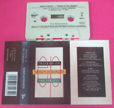 MC SIMPLE MINDS Ballad of the streets 1989 italy VIRGIN SMXC-3 no cd lp vhs dvd*