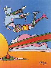 PETER MAX POSTER COSMIC FLYER--18 X 24-FROM THE 1970S-KOOL-FACSIMILE SIGNED