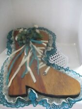 Wooden Old Fashion Shoe Hanging ~ *Gift Idea